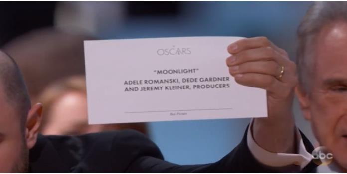 Esto explica el por qué del error del Oscar
