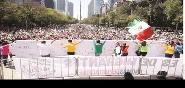 Exigen respeto para México