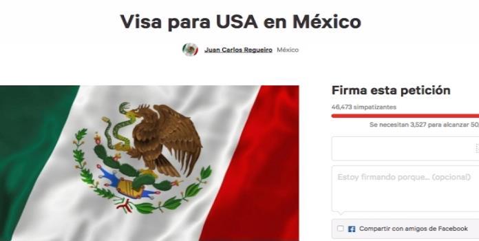 Piden miles que se imponga visa a estadounidenses