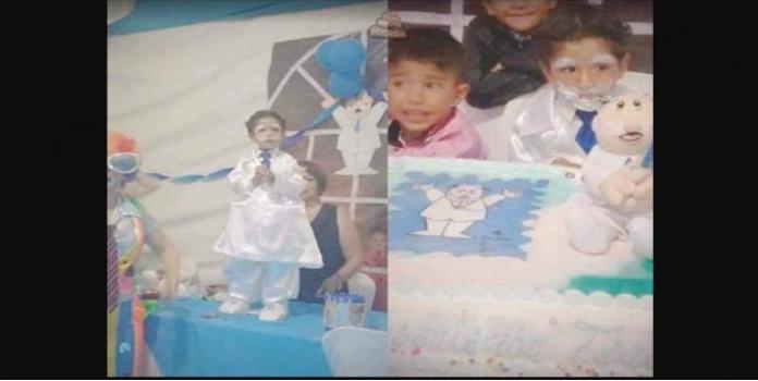Niño celebra cumpleaños al estilo Dr. Simi