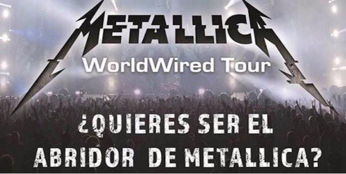 Metallica busca talento mexicano para sus conciertos