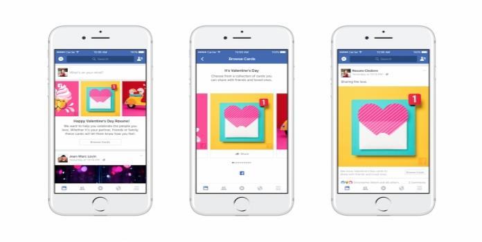 El amor llega a Facebook en forma de tarjetas y stickers