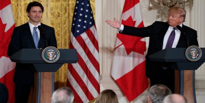 Trump destaca comercio con Canadá; reitera que relación con México es injusta