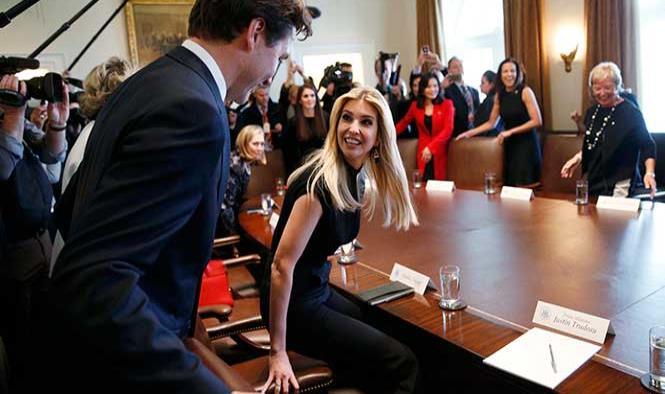 Ivanka Trump también cayó hechizada ante la sonrisa Trudeau