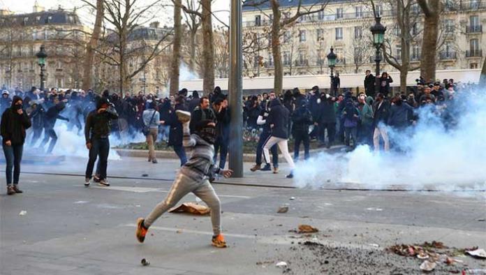 Disturbios en París en protesta contra la violencia policial