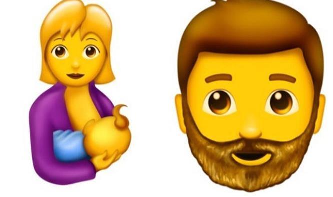 Mujer amamantando, barbudo, brócoli, ¡137 emojis de WhatsApp!