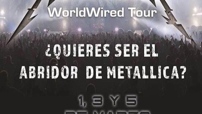 """""""Metallica"""" busca talento mexicano para abrir sus conciertos y """"El Komander"""" se apunta"""
