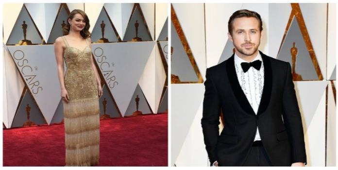 Emma Stone y Ryan Gosling sí asistieron a los Oscar
