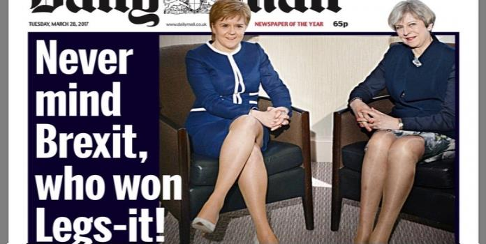 Diario dedica portada sexista a ministras británicas