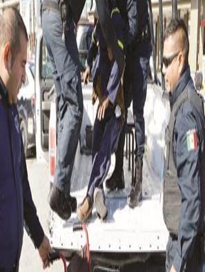 Fuerte operativo contra discapacitado