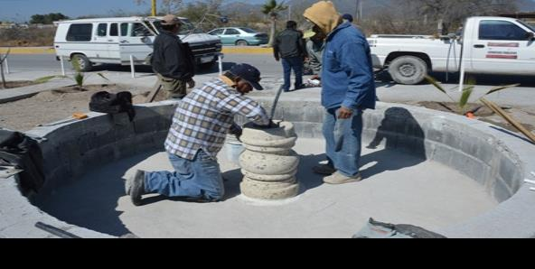 Colocan fuente en el paseo Hidalgo