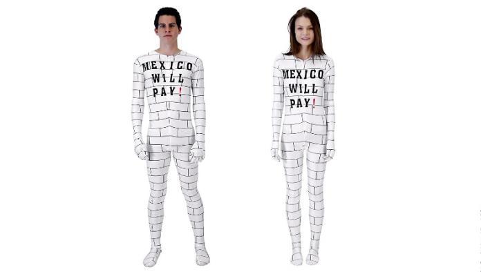 Polemizan por disfraz inspirado en muro