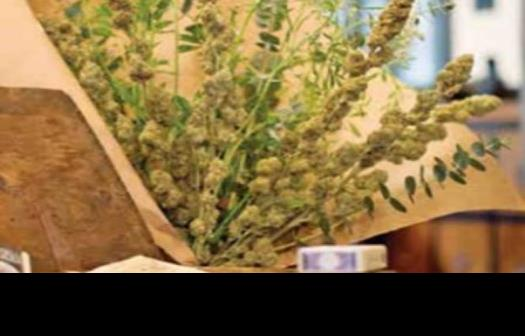 Expresan su amor con ramo de mariguana