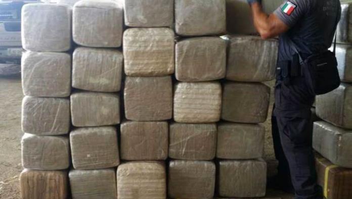 Hallan 16 toneladas de mariguana