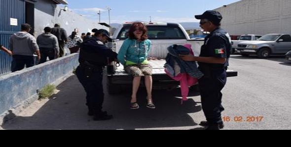Mujer fue detenida por petición de familiares