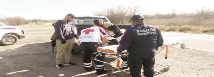 Herido en volcadura de un tracto camión