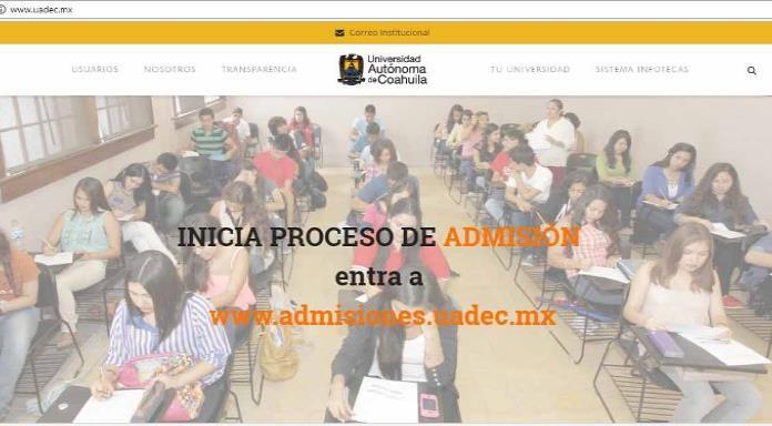 Amplía UA de C el registro para fichas de admisión