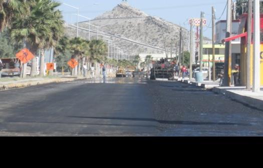 Avanza pavimentación de bulevar Benito Juárez