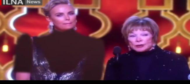 Televisión iraní censura vestido de Charlize Theron en los Oscar