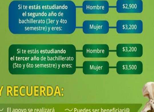 Ofrecen becas de hasta 4 mil pesos