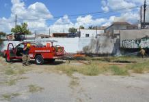 Fuego en terreno baldío amenazaba plataforma