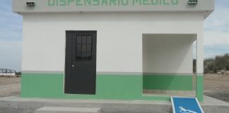 Avanza construcción de dispensario médico en el ejido Gpe. Victoria