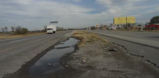 Nivelarán carretera 57 frente a ejido 1 de Mayo