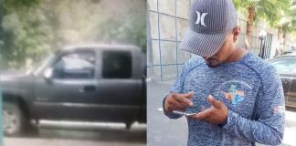 Le roban camioneta fuera de su vivienda