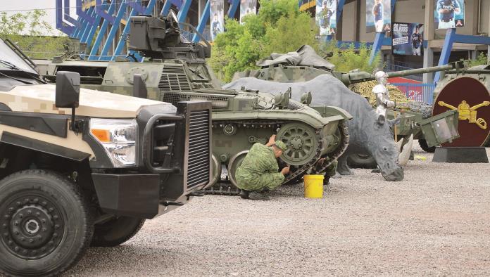 Arranca el jueves exposición militar