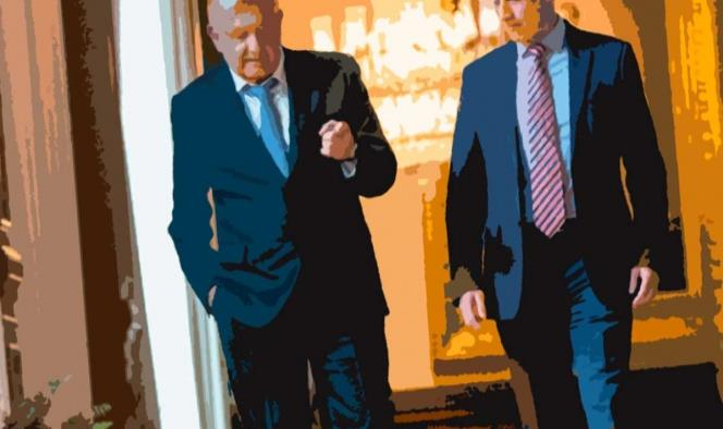 El presidente Andrés Manuel López Obrador y el subsecretario de Salud, Hugo López-Gatell, en Palacio Nacional. Foto archivo: Cuartoscuro