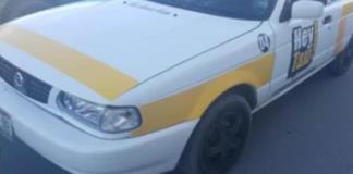 Logra impactar  a un taxista