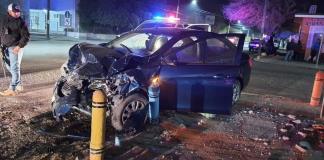 Aparatoso  accidente  en Del Valle