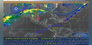 Pronostican fuertes lluvias en las próximas 48 horas