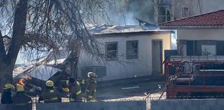 Consume incendio hogar en Ejido El Moral