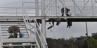 Rehabilitan  municipio puente peatonal