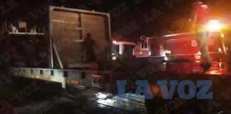 Se incendia plataforma de ferrocarril