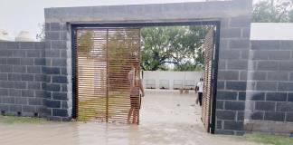 Se inundan casas en El Granjeno