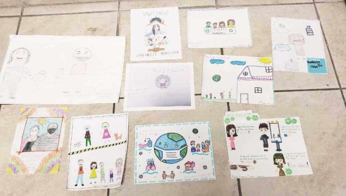 Los dibujos fueron relacionados a las medidas de salud en la familia.