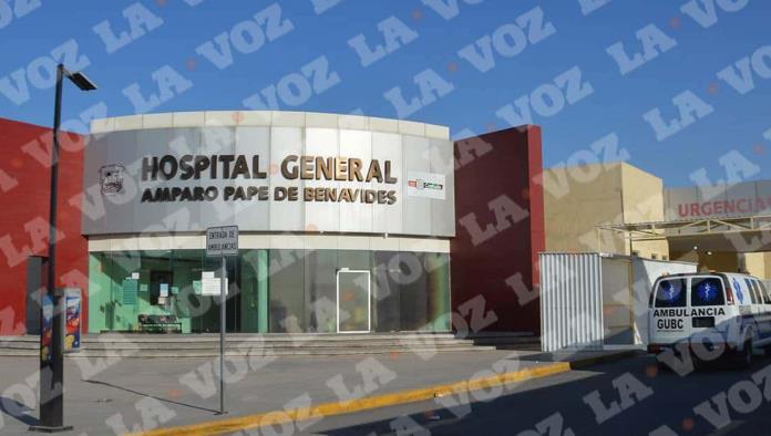 El obrero ingresó al hospital Amparo Pape de Benavides.