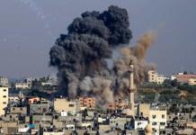 Bombardeo de Israel a Franja de Gaza derriba edificio; continúa escalada de violencia