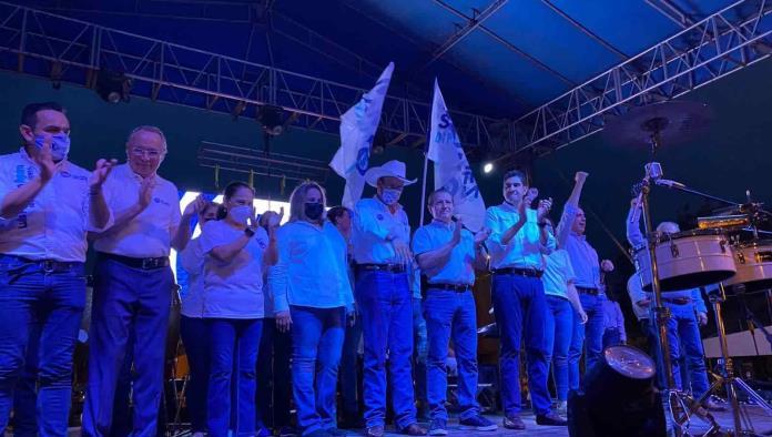 Con gran entusiasmo se vivió el cierre de campaña de Memo Sánchez en Sabinas