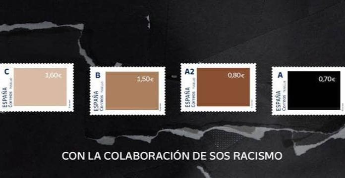 Correo de España lanza estampillas con tonos de piel y lo tachan de 'racista'