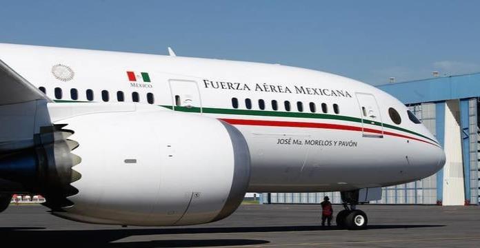 El avión presidencial es enviado a California