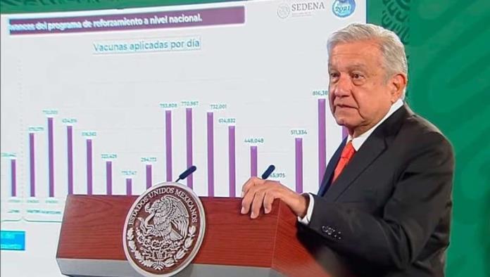 Celebra López Obrador el millón de vacunas aplicadas en un día