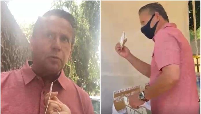Alfredo Adame acude a emitir su voto en la alcaldía Tlalpan; habla de polémico video