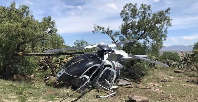 Cae helicóptero de la Fuerza Aérea en Hidalgo y Edomex