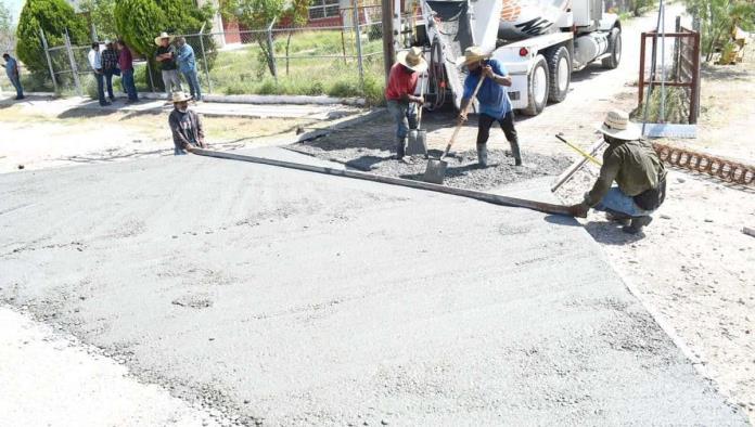 Avanza obra  de concreto hidráulico