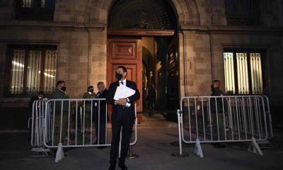 Aureoles acude a Palacio Nacional con ´pruebas´ de nexos Morena-narco; AMLO no lo recibirá