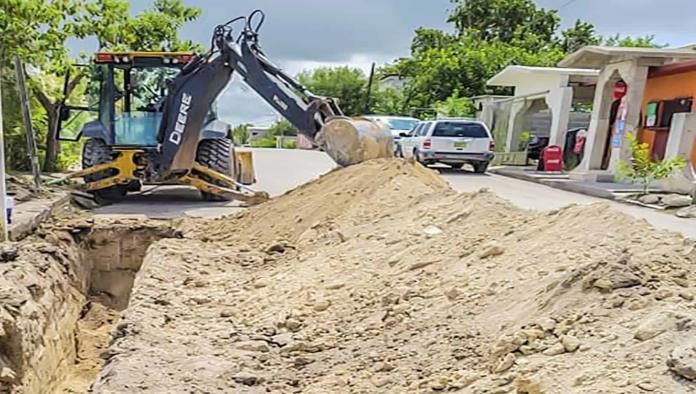 Avanza obra de  drenaje pluvial