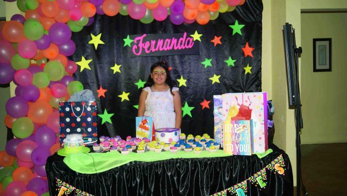 Fernanda pasa en grande su cumple